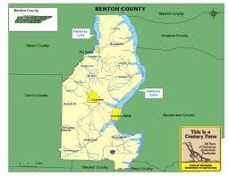 Camden County Maps Benton County Tennessee Century Farms
