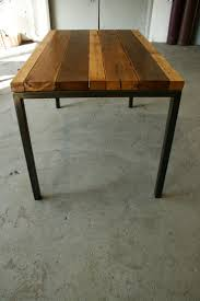 Dining Table Metal Legs Wood Top 68 Best Just A Table Images On Pinterest Wood Tables And Dining