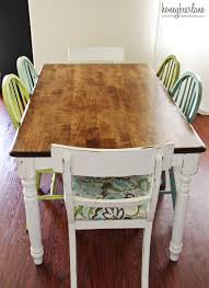Paint Dining Room Table Two Tone Furniturepaint With Natural Wood Paint With Stained Top