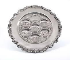 seder plate passover pewter seder plate passover judaica gift matza pessach