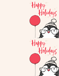 free penguin christmas card printables the best ideas for kids