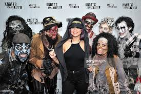 Gomez Halloween Costume Selena Gomez Visits Knott U0027s Scary Farm Photos Images Getty