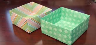 How To Make A Box With Paper - how to make an origami box out of scrapbook paper craftcore