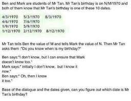 Which Date Is Mrbrown Yet Another Psle Maths Question To Your Mind
