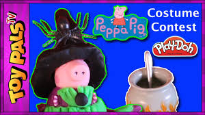 play doh peppa pig halloween costume contest video for kids
