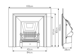 Fireplace Insert Dimensions by Royal Cast Iron Fireplace Inserts Carron
