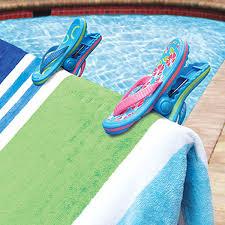 flip flop towel flip flop bocaclips by o2cool towel holders
