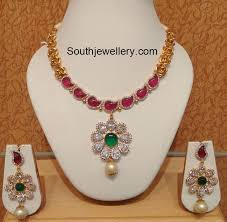 trendy necklace sets images Designer floral mango necklace set jewellery designs jpg