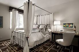 White Bed Canopy Canopy Bed Drapery Ideas Bedroom Transitional With Four Poster Bed