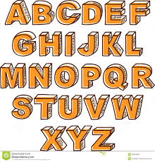 vector hand drawn abc letters stock vector image 46603098