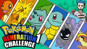 Challenge Original Generation 1 Challenge Pokémon Kanto Naming Challenge Original