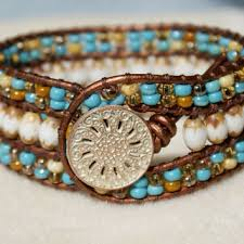 beaded leather cuff bracelet images Shop rustic cuff leather on wanelo jpg