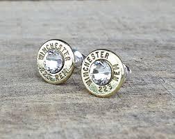 bullet stud earrings 45 winchester bullet earrings sterling silver stud earrings
