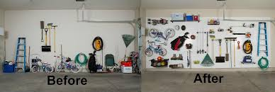 Garage Organization Idea - decoration before and after diy garage organization ideas with