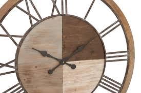 Wall Clock Cole U0026 Grey Oversized Wood And Metal 36