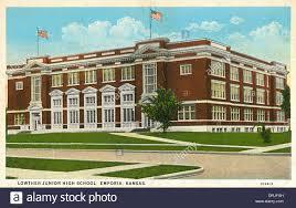 name of high school in usa lowther junior high school emporia kansas usa stock photo