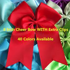 hair ribbons 8 inch cheer bow with hair bow hair ribbons