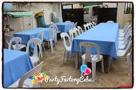 table and chairs for rent welcome to partyfactory cebu table set up