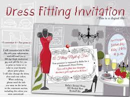 invitation for bridesmaid dress fitting invitation fitting party bridesmaid dress