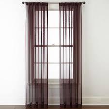 Purple Sheer Curtains Purple Sheer Curtains For Window Jcpenney