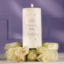 memorial candle crystals and lace candle wedding memorial candles