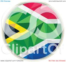 Geometric Flag Clipart Of A Low Polygon Geometric South African Flag Circle