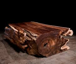 Wood Stump Coffee Table Contemporary Coffee Table Rosewood Rectangular In Reclaimed