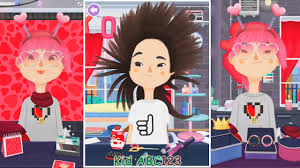 design hair game toca hair salon 3 valentine new hair game apps for kids youtube