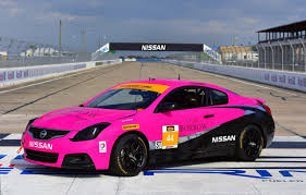 nissan altima two door crg nissan altima coupe takes part in continental tire sportscar