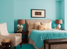 Paint Colours For Bedroom Bedroom In Aqua Chintz Glidden Paint Color For The Home