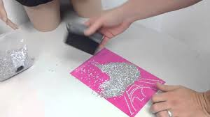 trw trick how to brush rhinestuds into sticky flock template