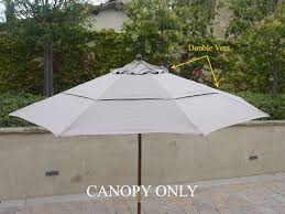 Replacing A Deck With A Patio Amazon Com 9ft Market Umbrella Replacement Canopy 8 Ribs Taupe