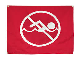 Beach Red Flag Swimming Warning Flag