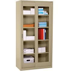 Sliding Door Storage Cabinet by Buy Sliding Wood Doors Stackable Storage Cabinet Antique White In