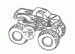 monster truck cool t maxx coloring page for kids transportation