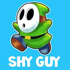 draw shy guy nintendo u0027s super mario instructional