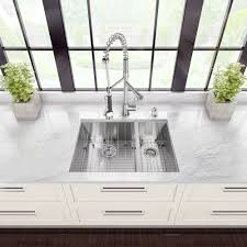 vigo all in one 29 inch undermount double bowl kitchen sink and