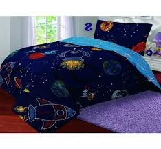 Space Single Duvet Cover Cotton Rich Printed Duvet Cover With Pillowcase Single Space