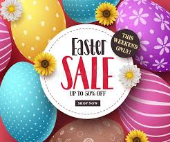 easter eggs sale easter sale vector banner with colorful easter eggs flowers and