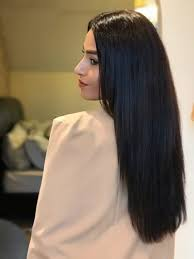 long same length hair one length blunt cut heel diaries