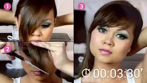 comment se couper les cheveux soi meme marre d aller chez le coiffeur coupez votre frange vous même
