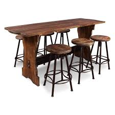 Pub Dining Room Tables Emerald Home Chambers Creek 7 Piece Counter Height Dining Table