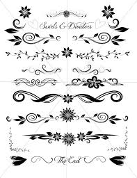 divider lines fancy swirls and ornamental borders by tuitrading