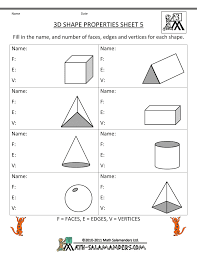 third grade math practice 3d shape properties 5 education