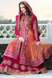 pink colour combination dresses pink georgette net suit loved the colour combination indian