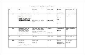 action plan template free resume