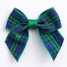 tartan ribbon 12 blue green tartan ribbon bows self adhesive ribbon bows at