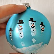 bit funky make these now handprint snowman ornament