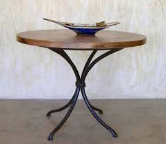 Copper Top Dining Room Tables Round Copper Table Napa Base Forged Tuscan Rustic Table