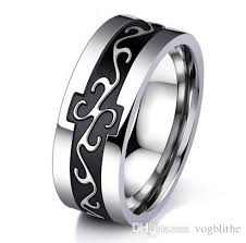 7mm ring 7mm europe fashion mne ring high quality stainless steel anillos